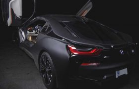 BMW i8 Matte Black Wrap
