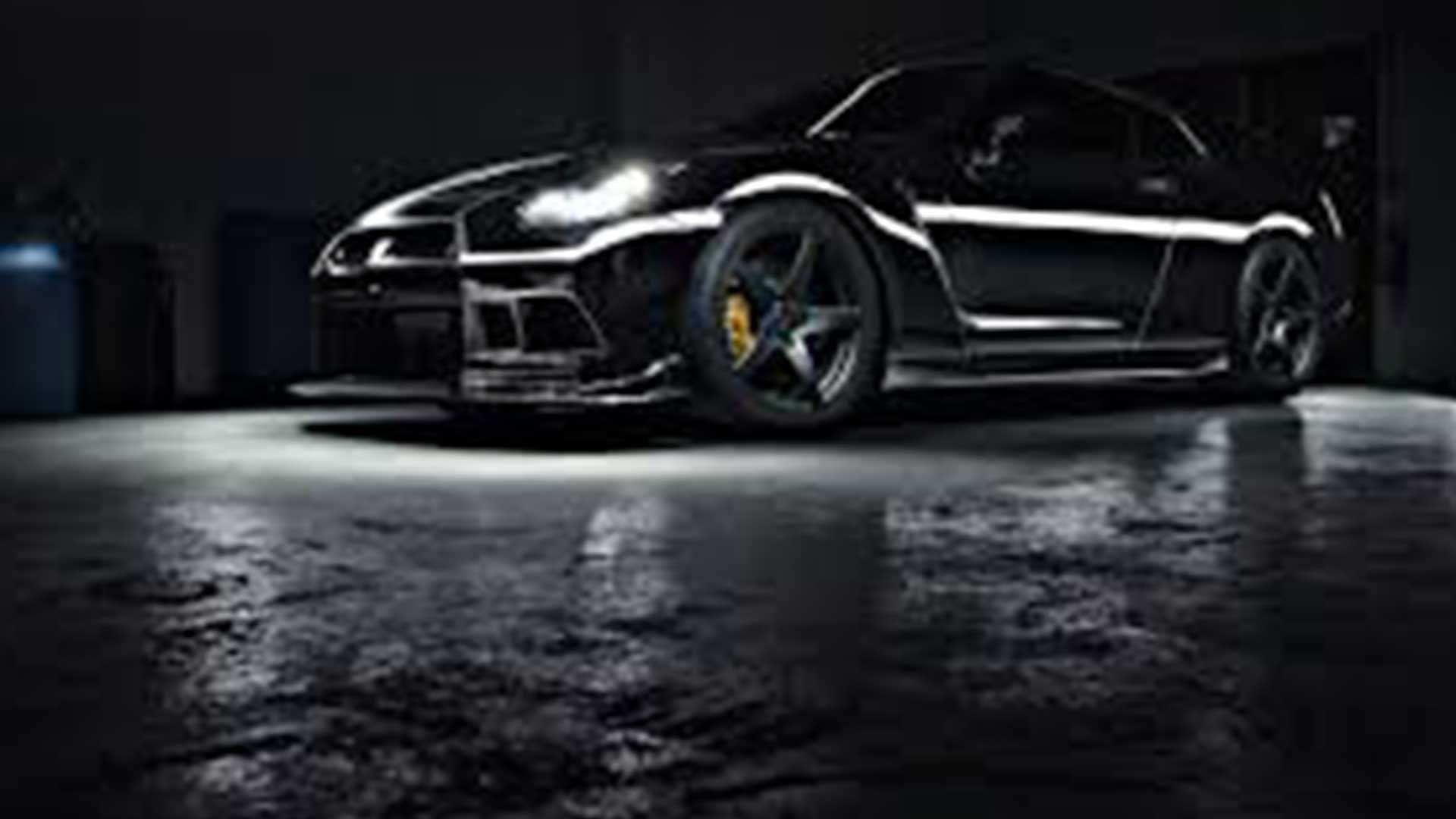 Chrome Wrapped Nissan GTR