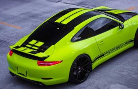 Porsche Acid Green Wrap